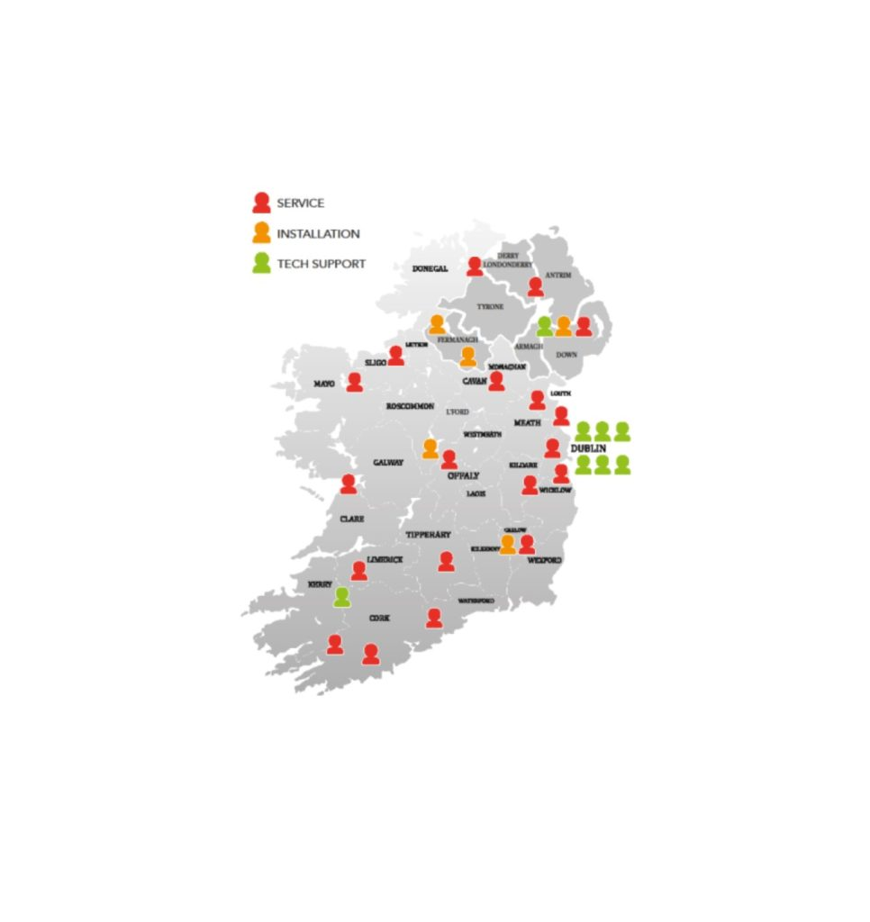 Electric Car charging map Ireland